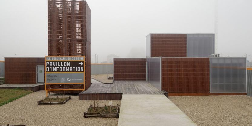 Pavillon d'informations de la SAEM / SPL sur l'île Seguin (et le trapèze) BOULOGNE_pavillon_d_exposition-C-878858_1325847224_0