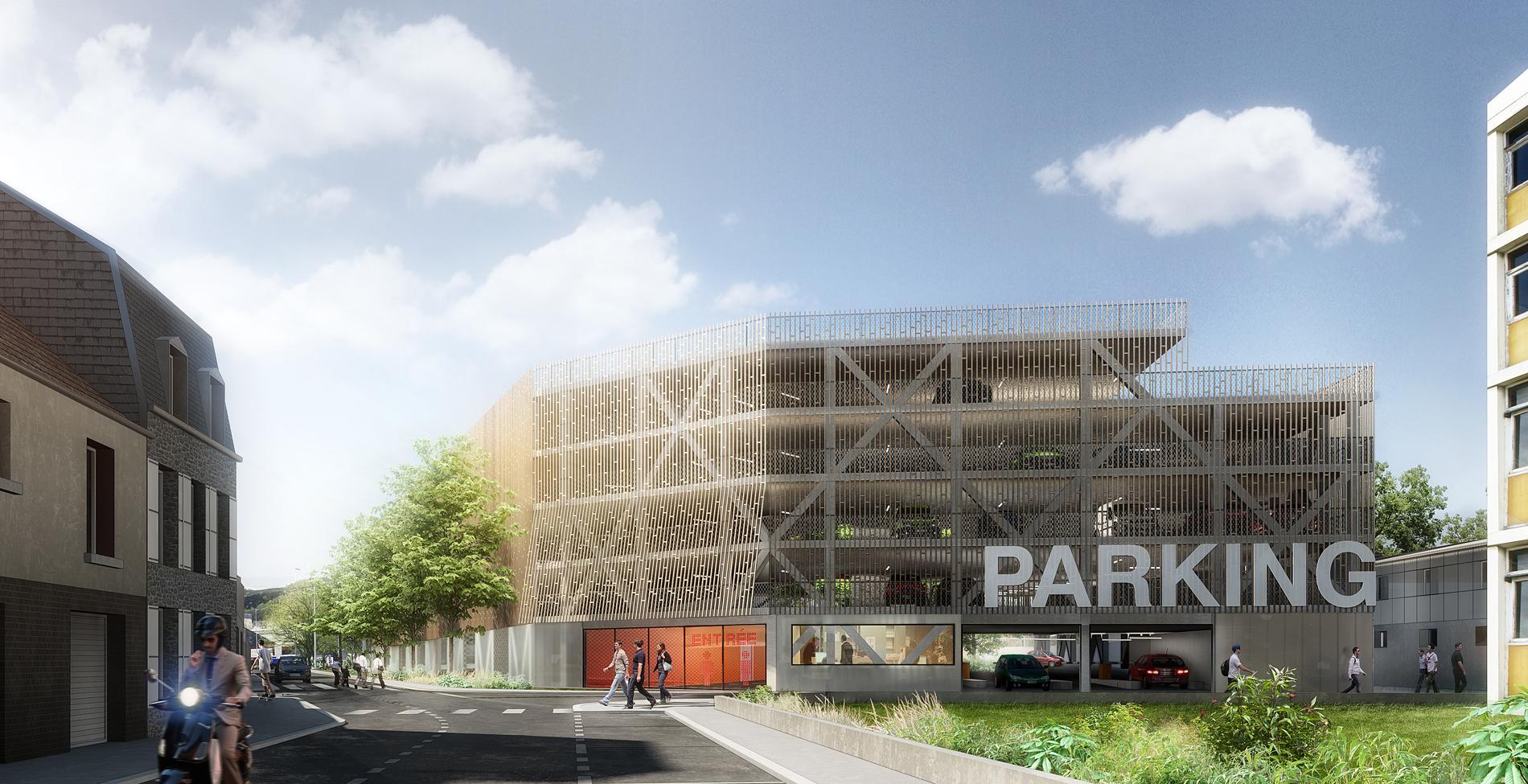 Aaupc patrick chavannes parking silo de l h pital pasteur for Architecte cherbourg